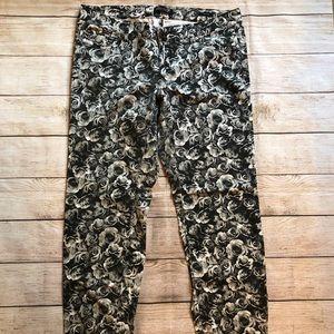 Seven7 Luxe Black/White Floral Skinny Leg Pants